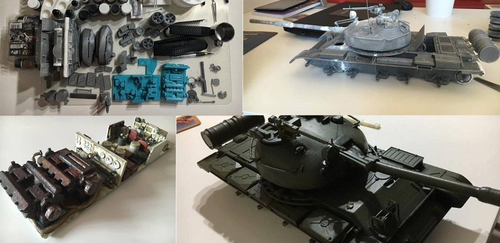 3D Printed T-62 tank 3D model