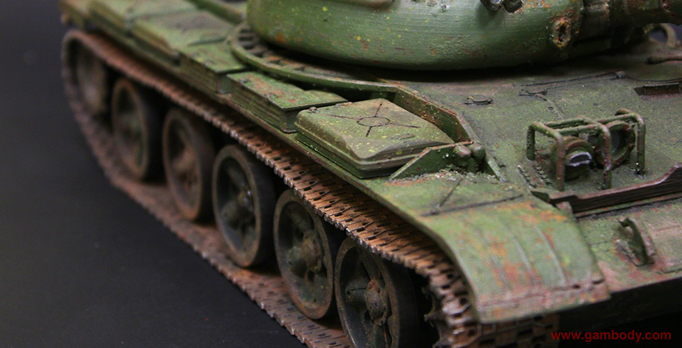 T-62 tank 3d model 3d printed and painted