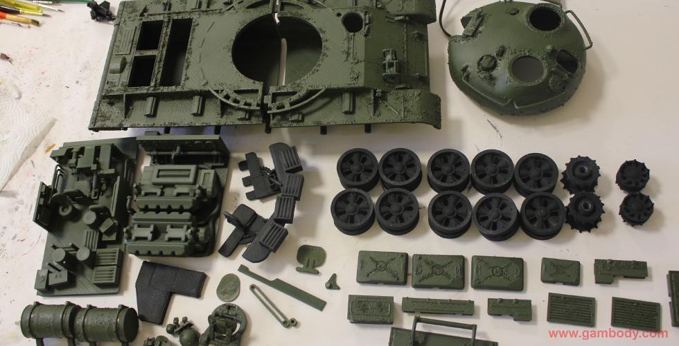 T-62 Soviet Tank 3D printed miniature