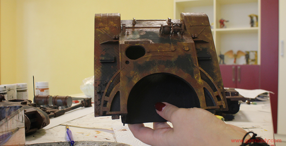 3D printed and painted T-62 tank model from World of Tanks video game