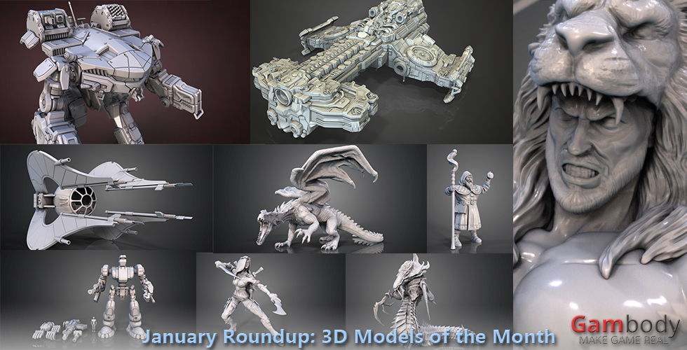 January Roundup: 3D Models of the Month