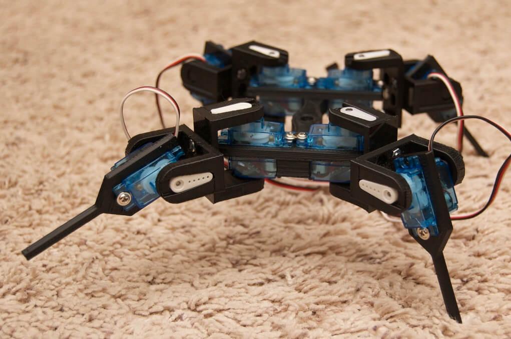 Quadruped 3D printed robot