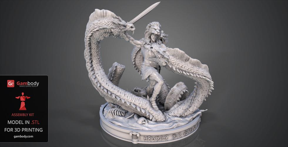 January Roundup: Hercules vs Hydra 3D model