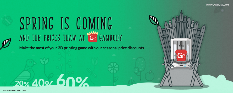 Spring Price Thaw* at Gambody – Press Release