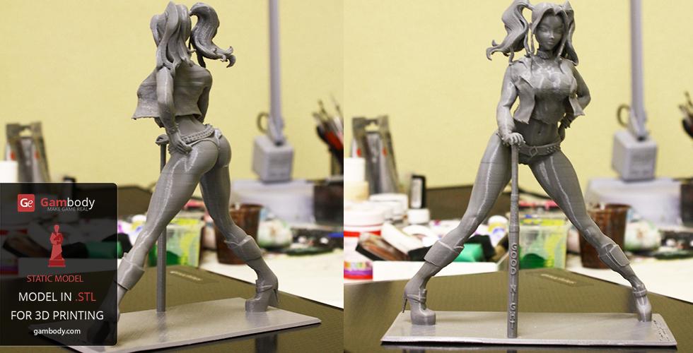Harley Quinn for 3D printing