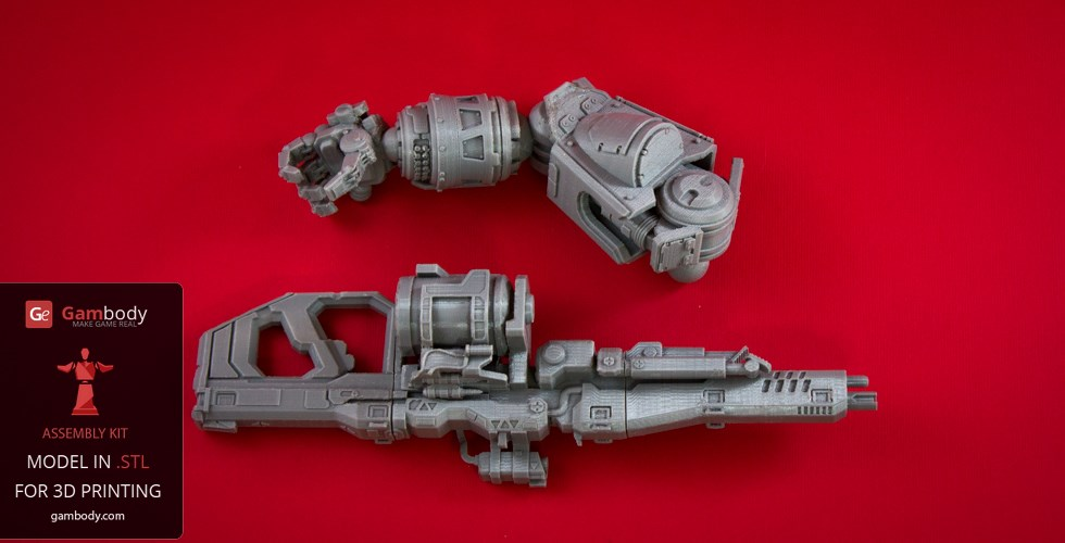 Atlas Titan 3D model 3D printed parts