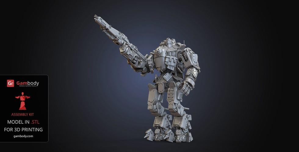 February Roundup Atlas Titan 3D model from Titanfall