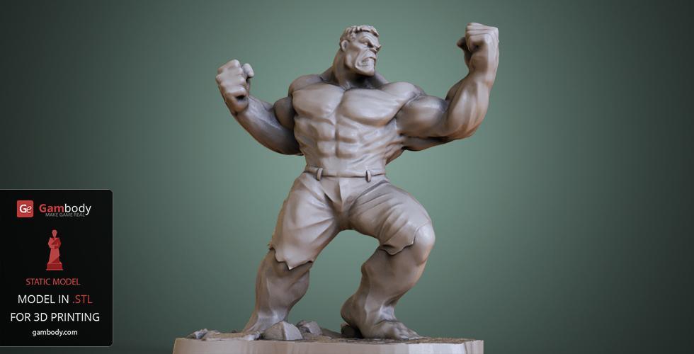 Hulk 3D model for printing