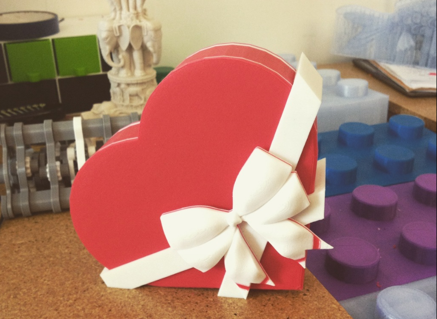 Valentine's Day Chocolate Box 3D printed