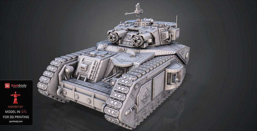 February Roundup Macharius Vulcan Tank 3D model