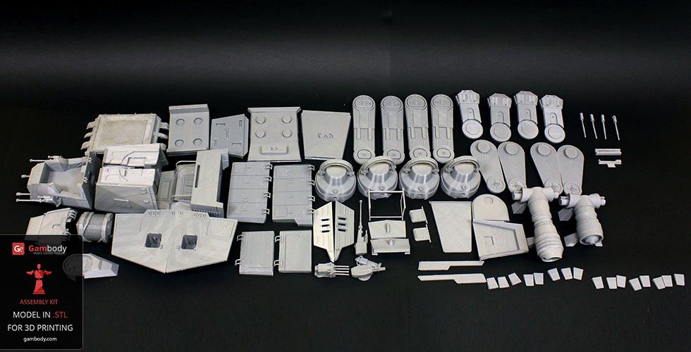 3D printed AT-AT Walker parts