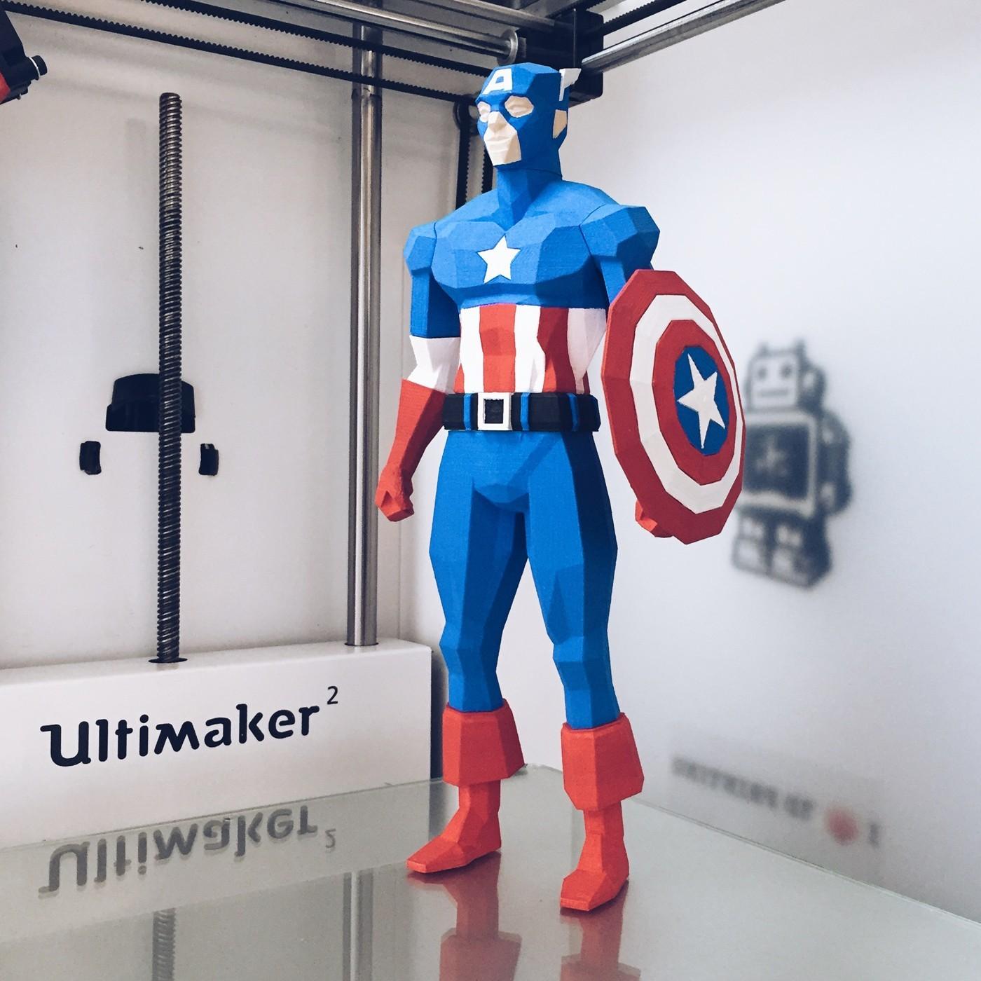 captain america 3d printed superheroes
