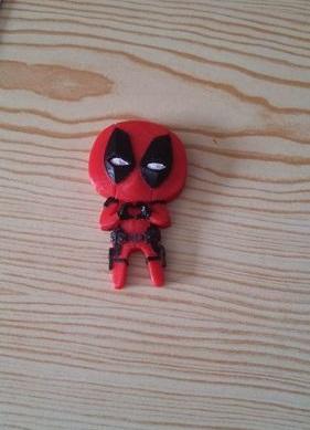 Deadpool Feel the Love Magnet 3D printed