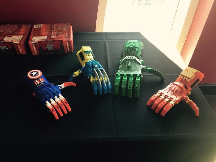 3d pRINTED SUPERHEROES HANDS