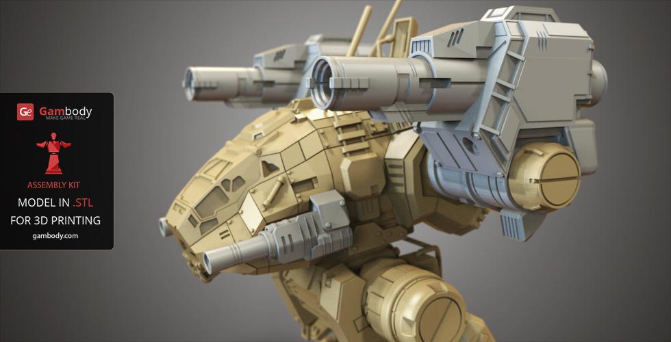 Catapult 3D model from MechWarrior Online