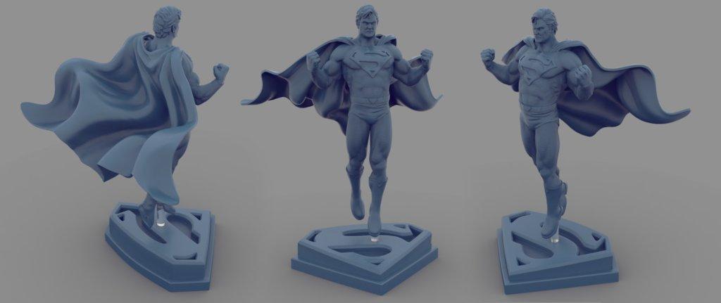 Superman Model for 3D Printing