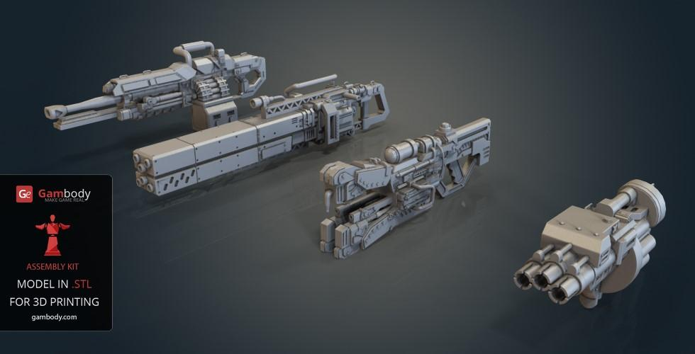 Atlas Titan Weapons for 3D printing add-ons