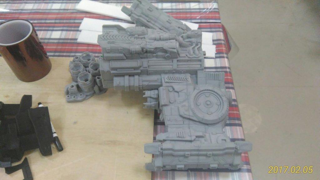 battlecruiser 3d printed