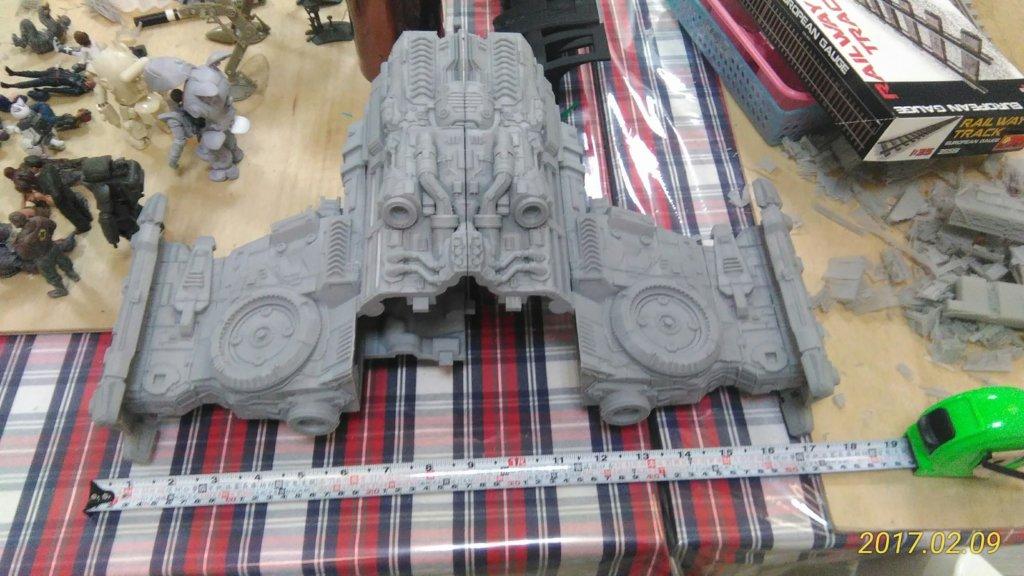 3d printed Starcraft Battlecruiser