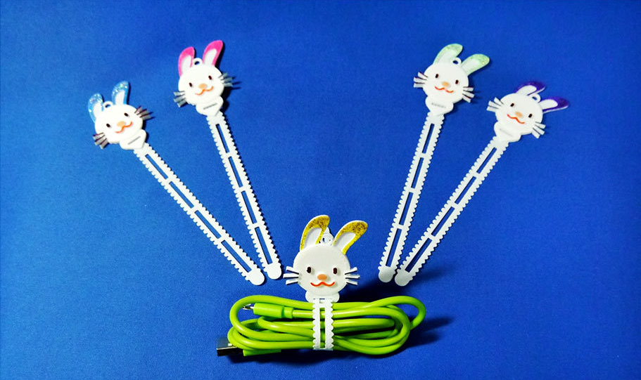 3d printed bunny ears cable holder
