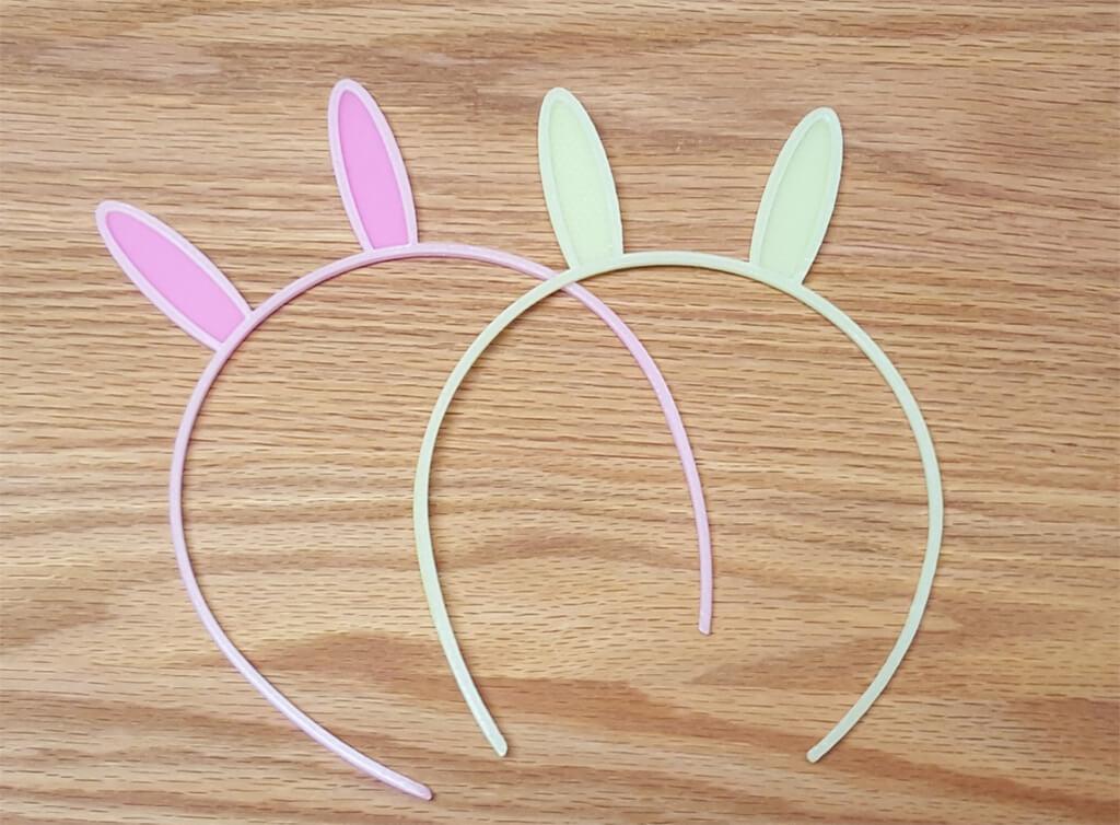 Easter 3D Prints bunny ear headband