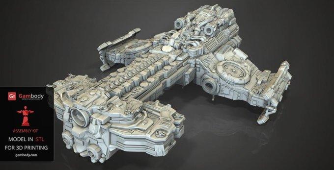 Maker in the Spotlight: Sam Fenimore 3D Printed the 24-inch Battlecruiser