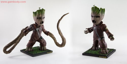 How to Hand-Paint Groot 3D Model: Tutorial