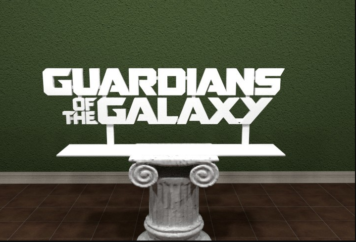 Guardians of the Galaxy 3D Printed Logo