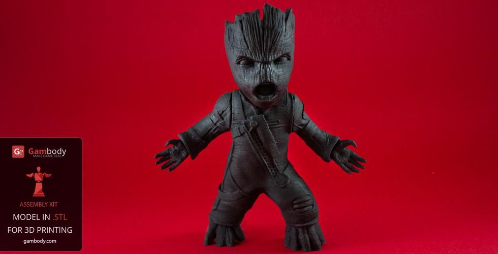 primer coating Groot 3D print