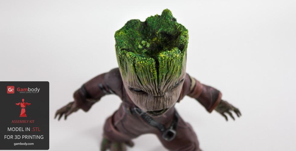 painting 3D printing Groot