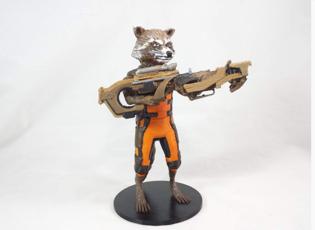 Guardians of the Galaxy 3D printed Rocket Racoon figurine