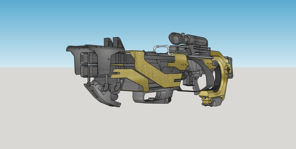 Rocket Racoon Rifle for 3D Printing