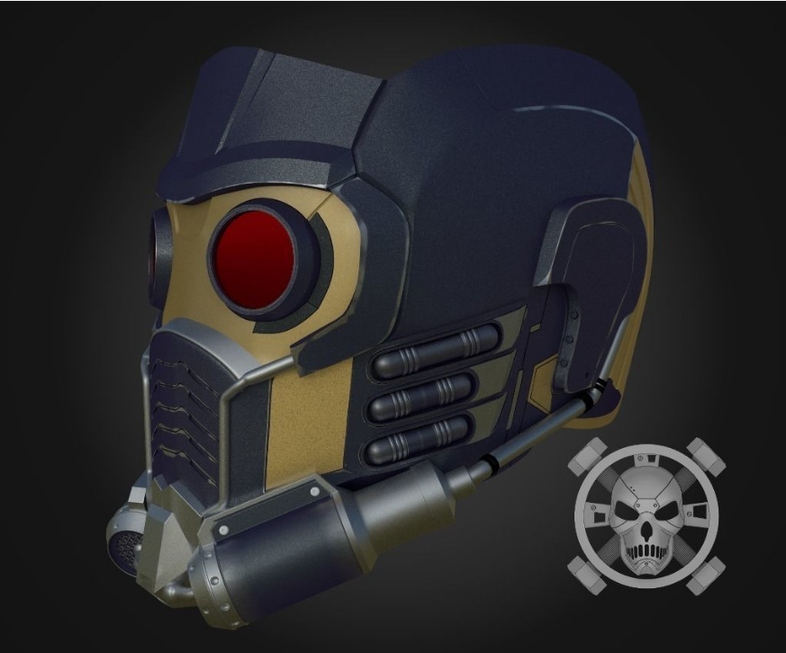 Guardians of the Galaxy Star-Lord Helmet for 3D Printing
