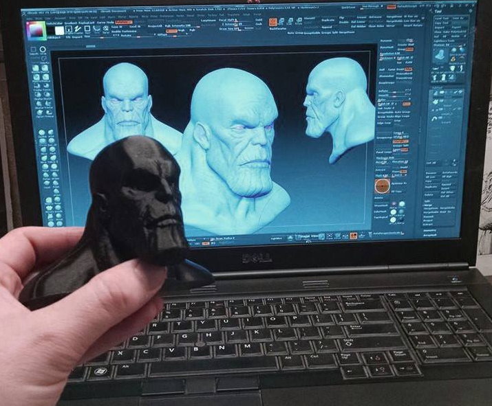 Guardians of the Galaxy 3D printed Thanos Bust
