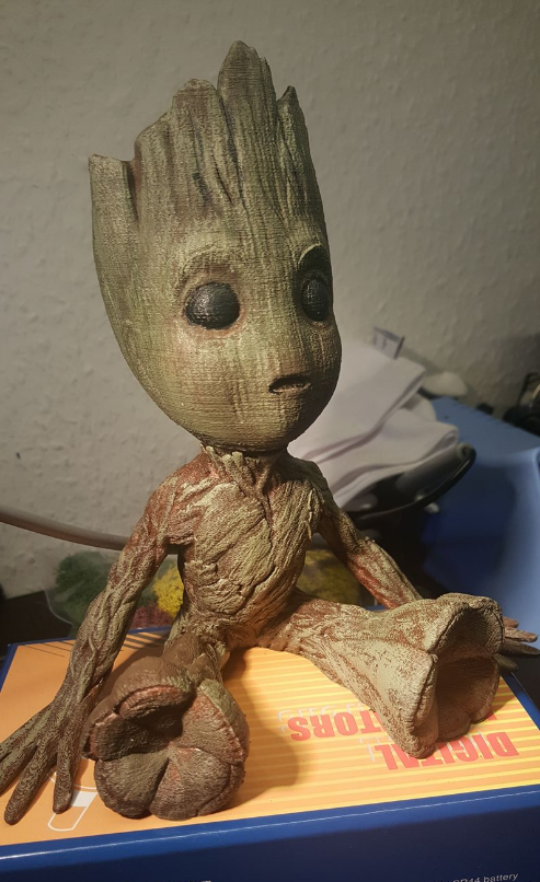 baby groot 3d print - Print and paint by Mike Bogutsch