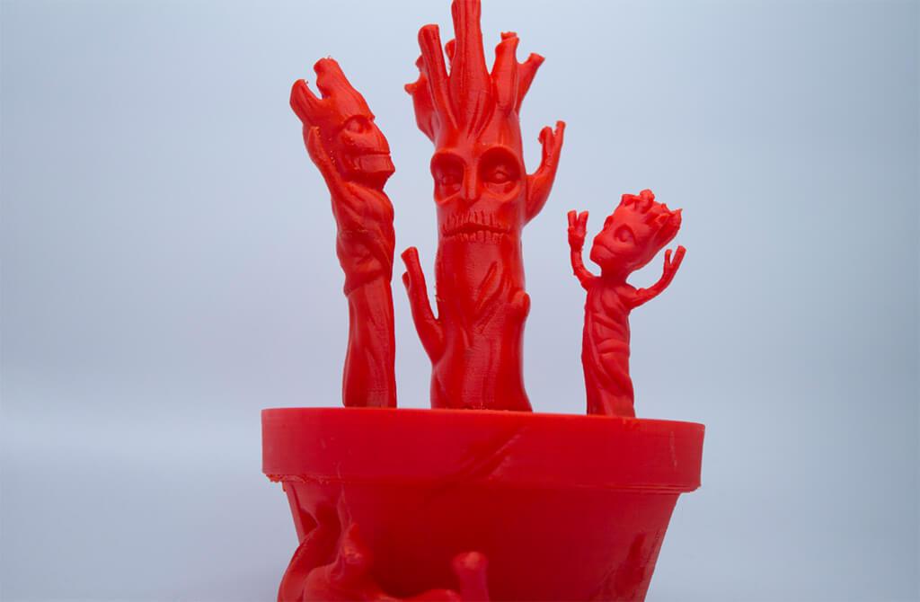 Triple Baby Groot 3D print decoration