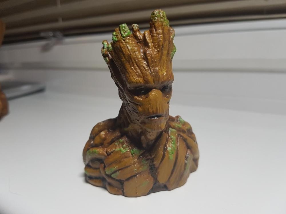 3D printed bust of Groot