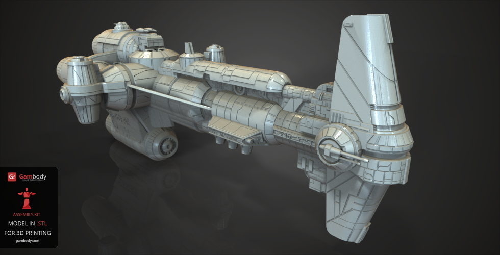 Hammerhead Corvette - Star Wars 3D printing spaceships