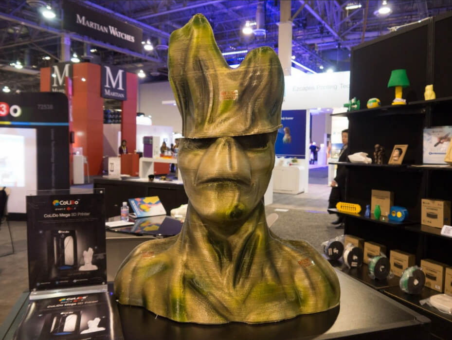 Life size Big Groot Bust 3D printed