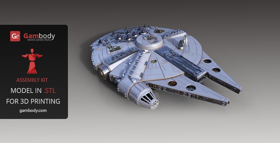 Millennium Falcon - 3D printing spaceships