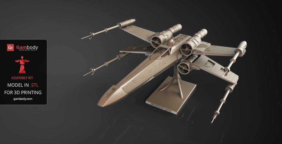x wing 3d printing spaceships