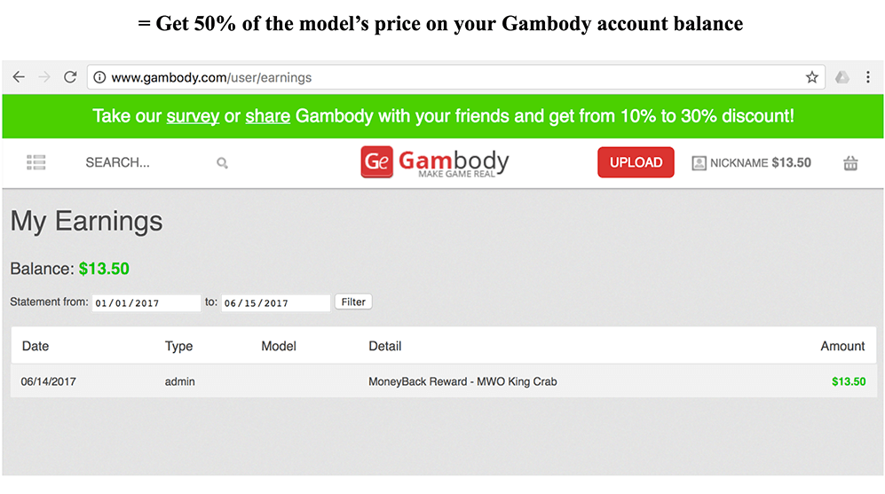 MoneyBack Reward from Gambody-2