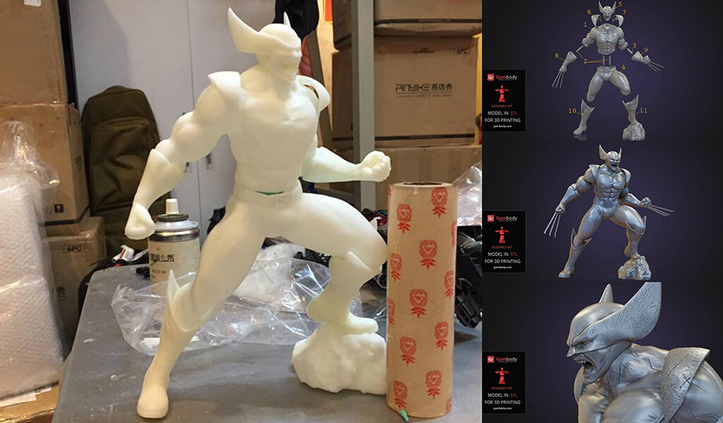 Wolverine 3D printed figurine
