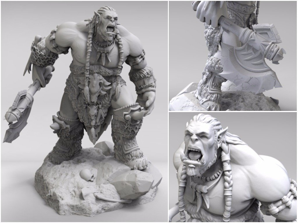 World of Warcraft miniatures for 3D printing