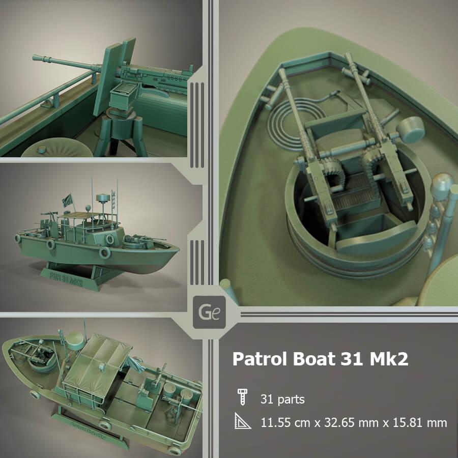 Patrol Boat 3D Printing Model