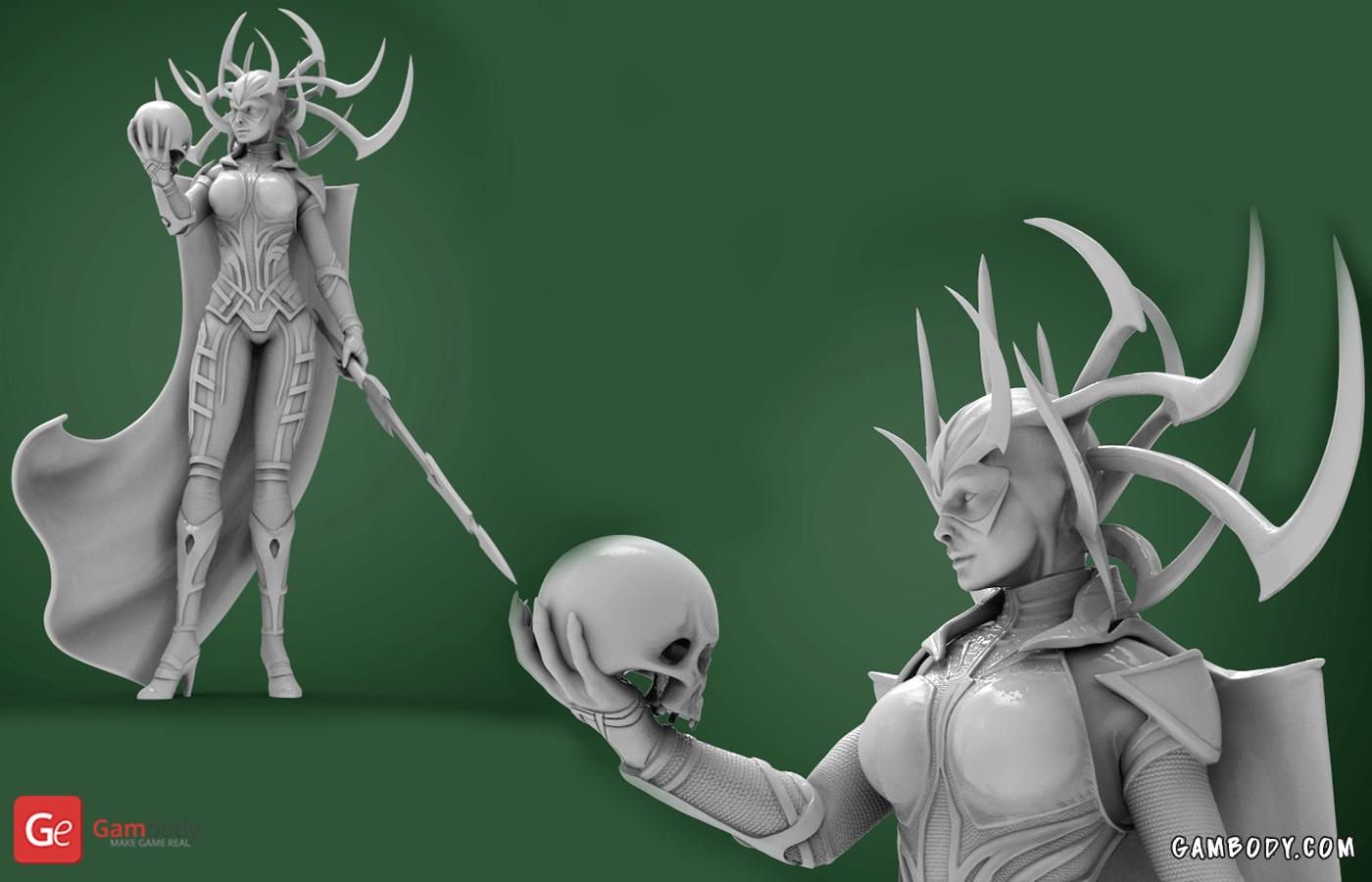 Hela 3D Printing Figurine