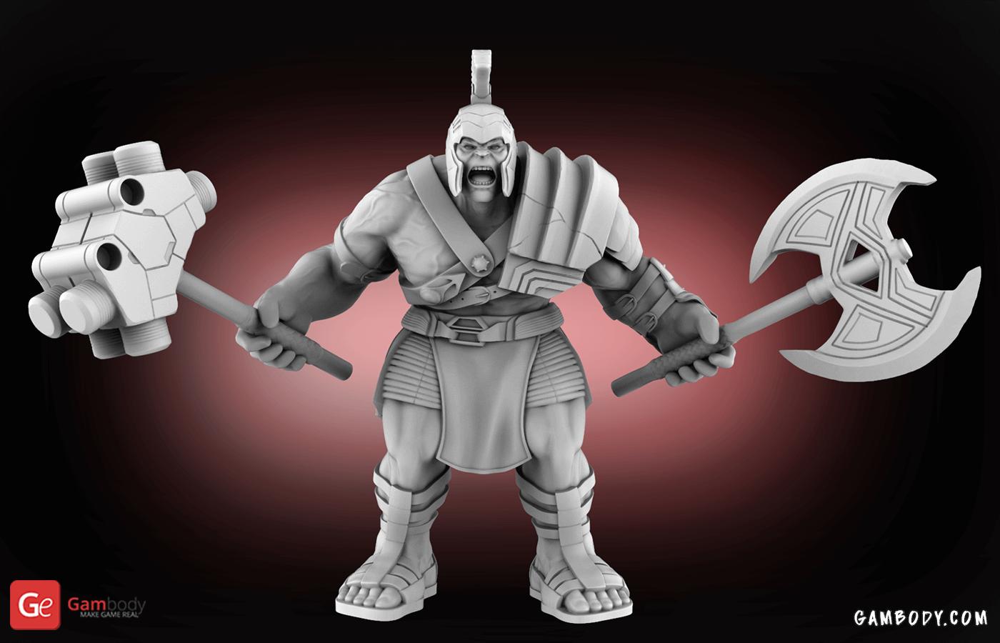 Armored Hulk 3D Printing Figurine