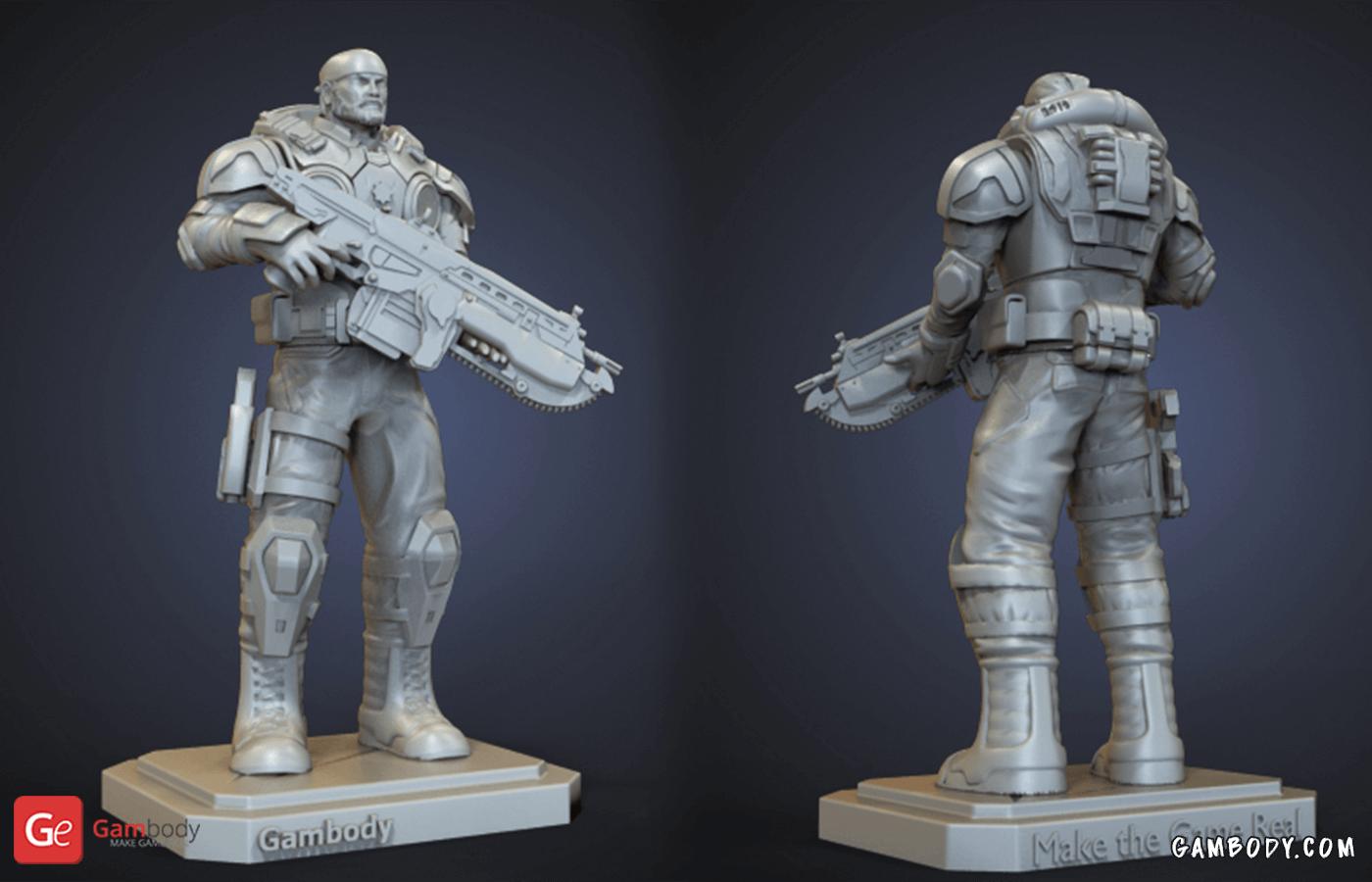 Marcus Fenix 3D Printing Figurine