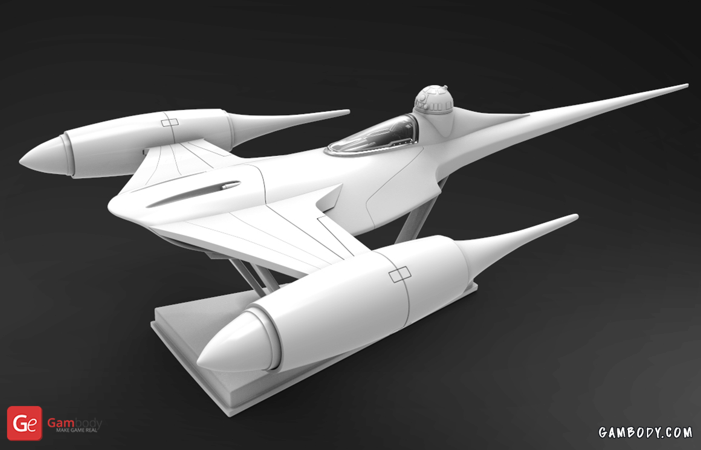 Naboo Starfighter 3D Printing Model