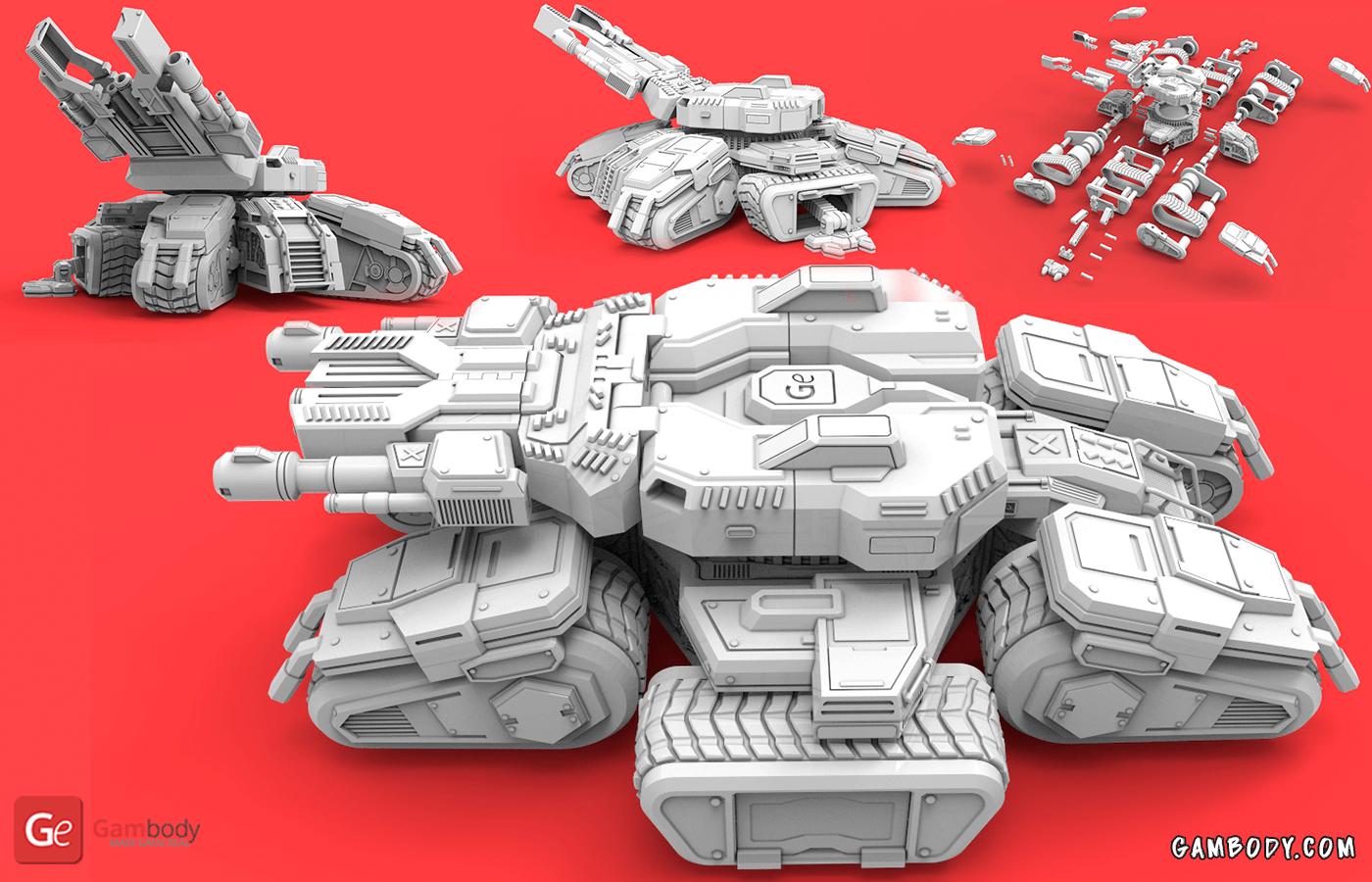 Siege Tank 3D Printing Model